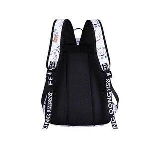 Image 3 - Школьные ранцы OKKID для девочек, женский рюкзак для ноутбука с usb разъемом, Детские рюкзаки, школьный ранец с милым котом для девочек