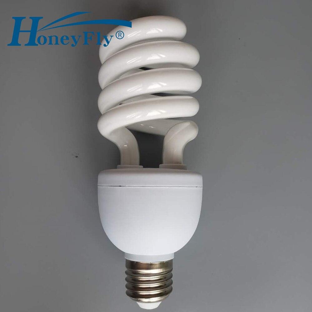 Lampe économiseuse d'énergie de Tube en spirale complet de HoneyFly AC220-240V 20 W/28 W E27 éclairage à la maison d'ampoule fluorescente de demi-spirale