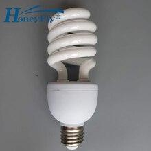 купить HoneyFly Full Spiral Tube Energy Saving Lamp AC220-240V 20W/28W E27  Half Spiral Fluorescent Light Bulb Home Lighting дешево