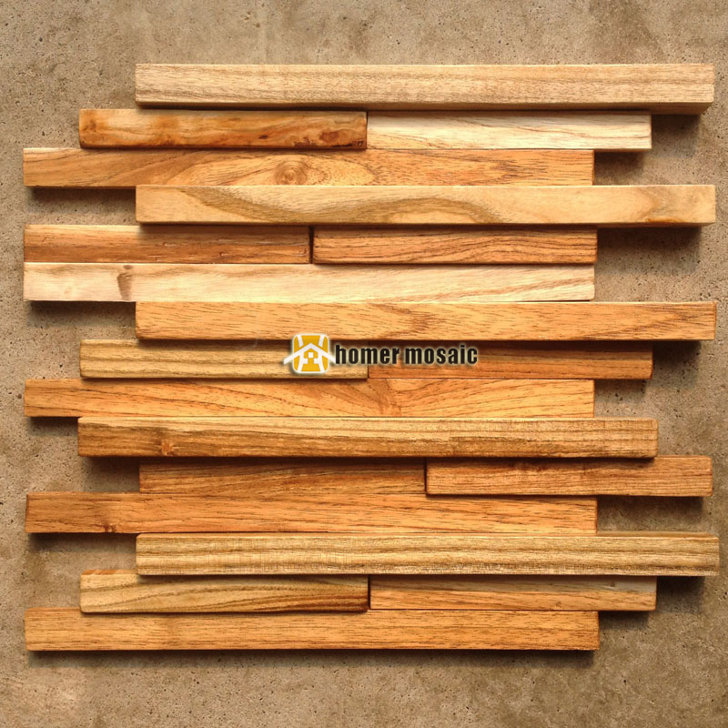 3D natural wood mosaic old ship wood tiles natural wood wall mosaic HS6006  for bar background - Compare Prices On Natural Wood Tile- Online Shopping/Buy Low Price