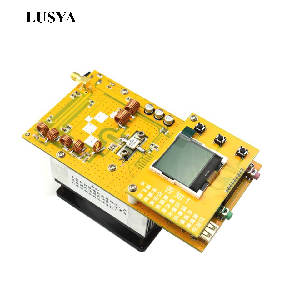 Lusya 12V Digital LED Portable Radio Station Aluminum 30W PLL Stereo FM Transmitter radio 76M-108MHz with heatsink fan free shipping czh 15a 15w fm radio broadcast pll transmitter fm transmitter silver color