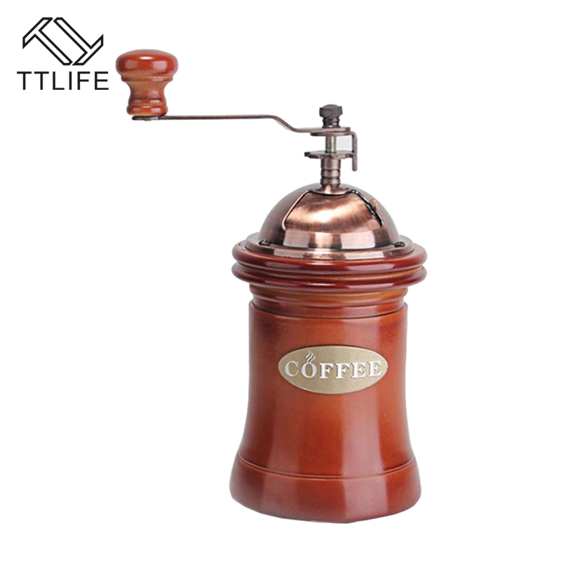TTLIFE Noble Coffee Grinder Hand Coffee Grinder Household Mini Manual Coffee Mill Beans Nuts Grinder