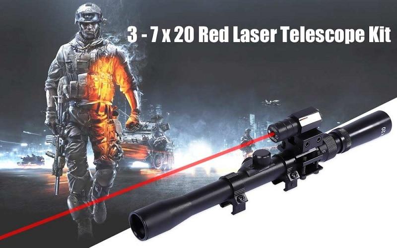 3-7x20 Δακτυλιοσκόπιο + Οπτική λέιζερ 20 - Κυνήγι - Φωτογραφία 1
