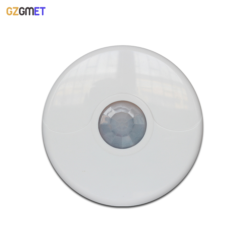 GZGMET 360 Detection Degree Wireless Detector Ceiling Mount Infrared PIR Motion Sensor  433mhz Dual Tech Alarm System Beam indoor 360 degree ceiling pir motion detector infrared sensor light switch nc no output options pir alarm intruder from douwin