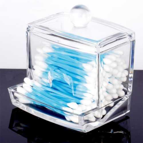 Палочка коробка прозрачные акриловые подушечки косметический держатель для хранения держатель ватных тампонов коробка для макияжа Органайзер ватные палочки экологичные