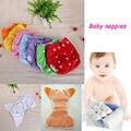 Venta caliente 1 unids impermeables pantalones reutilizables pañales del bebé del algodón infantil del bebé ajustable pañal de tela lavable tamaño libre invierno verano