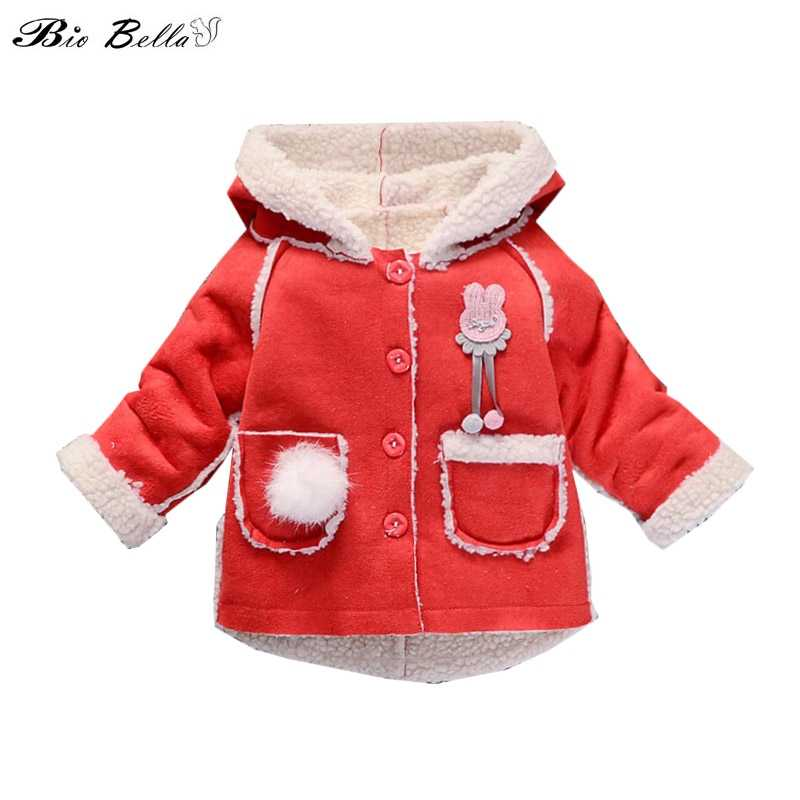 62af9034 Kids Hooded Jackets Children Clothing Fashion Cartoon Rabbit Fleece  Outerwear Girls Clothes Jacket Winter Coat Infantil