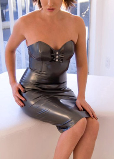 Deep v summer dress rubber