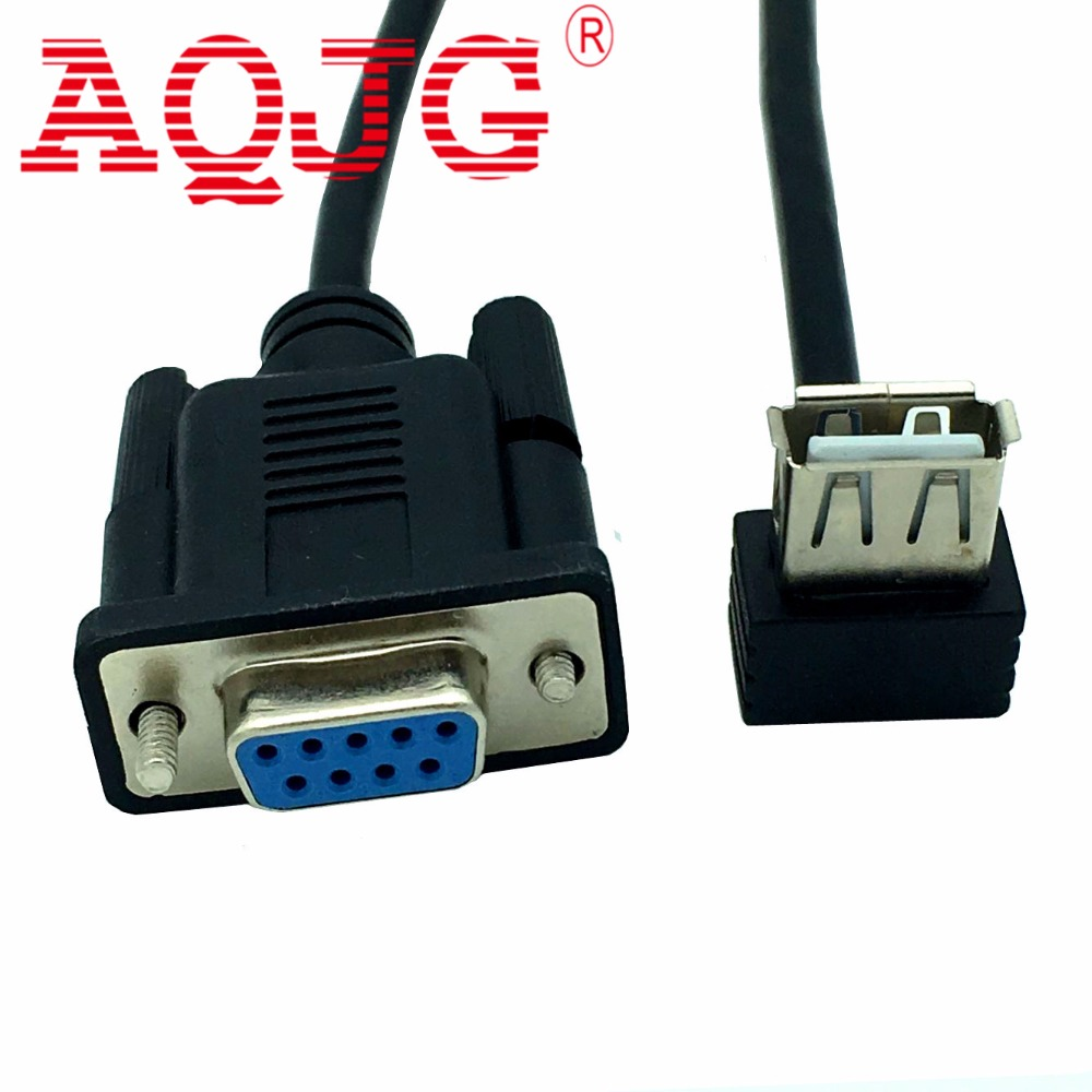 10pcs Rs232 Db9 Female To Usb 2 0 A Female Serial Cable