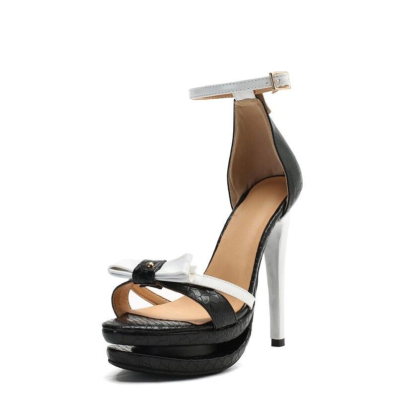 Estilete Alto Black Oi0588 Super Punta Intención Negro Original Mujeres Abierta Tacón Sandalias Sexy Verano Plataforma La Size15 Zapatos De Hebilla RH7UYwxHq