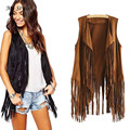 Women Autumn Winter Faux Suede Ethnic Sleeveless Tassels Fringed Vest Cardigan Stylish Nov 28
