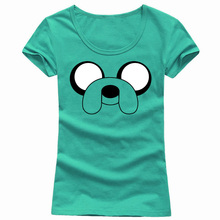 Funny Adventure Time Women T Shirts Tops Short Sleeve Round Neck Cartoon Female t-shirt Casual Fashion Tee Shirt Vintage Cheap