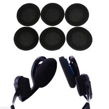 10 قطعة أسود بطانة للأذن الإسفنج وسادات الأذن ل Sennheiser PX100 80 px200 كوس بورتا سبورتا برو Ksc 35 75 AKG سماعة الأذن سماعة
