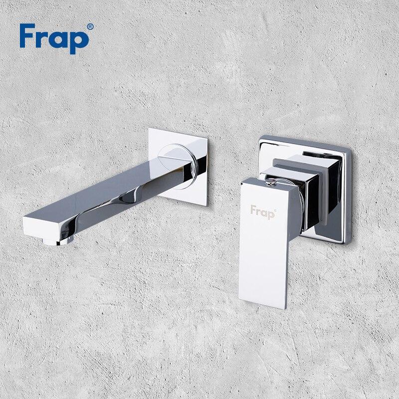 Frap water mixer bathroom sink Faucet tap Basin tap mixer wall mounted basin faucets chrome basin faucet brass bathroom Y10052 square wall mounted water tap bathroom faucet mixer