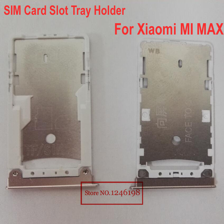 Gold Silver Color TOP Quality SIM Card Slot Tray Holder For Xiaomi MI MAX Phone PARTS free shipping