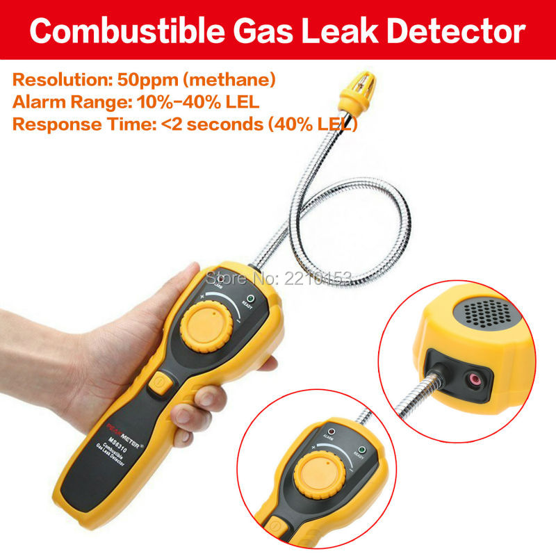 Free shipping Portable Combustible Gas Leak Detector Natural Gas Propane Gas Analyzer With Sound Light Alarm