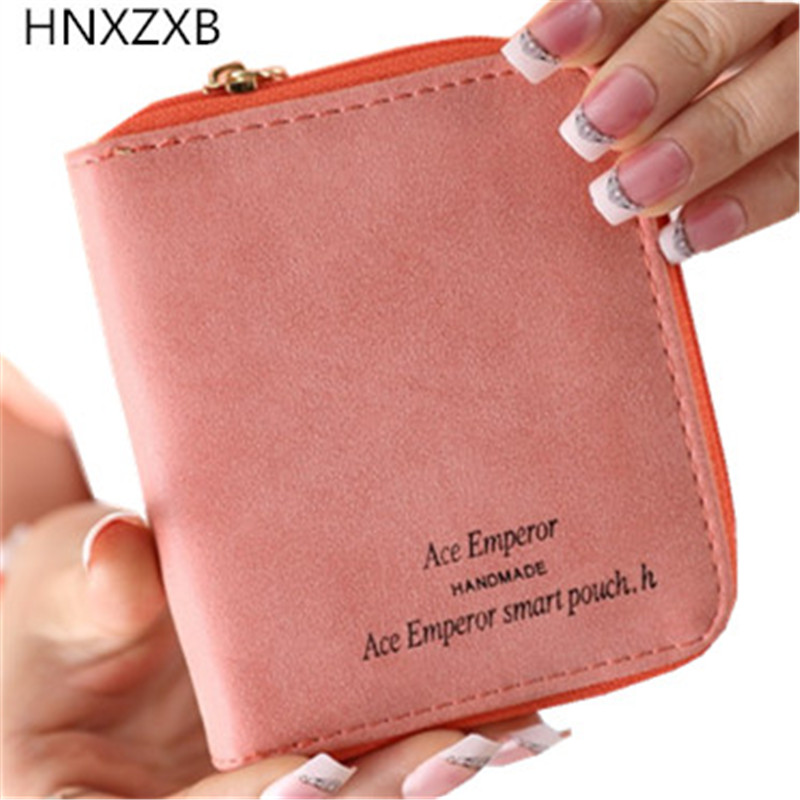 HNXZXB Nubuck Leather Women Short Wallets Ladies Fashion Small Wallet Coin Purse Female Card Wallet Purses Money Bag
