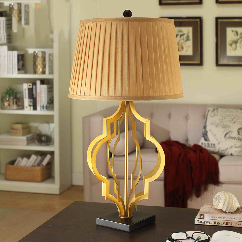 Us 169 88 American Village European Creative Home Decorations Ornaments Fashion Metal Gold Desk Lamp Bedside Table Lamps Abajour In From