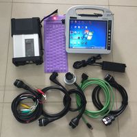 MB Star c5 Used CF H2 I5 4G tablet 2020.09 Software in 360GB SSD SD Connector 5 car and truck diagnostic Tool Scanner code read