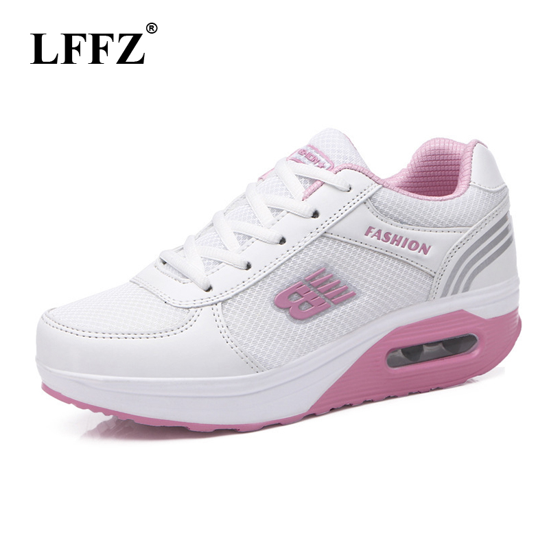 LFFZ 2018 New Spring Summer Shoes Swaying Shoes For Women Mesh Cushioning Women Sneakers Flats Students Travel Shoes JH138 цена