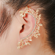цены TTLIFE Crystal Earrings Female Punk Ear cuff Clip on Earrings One Piece Exaggerated Earring Cuffs For Women Punk Gothic Jewelry