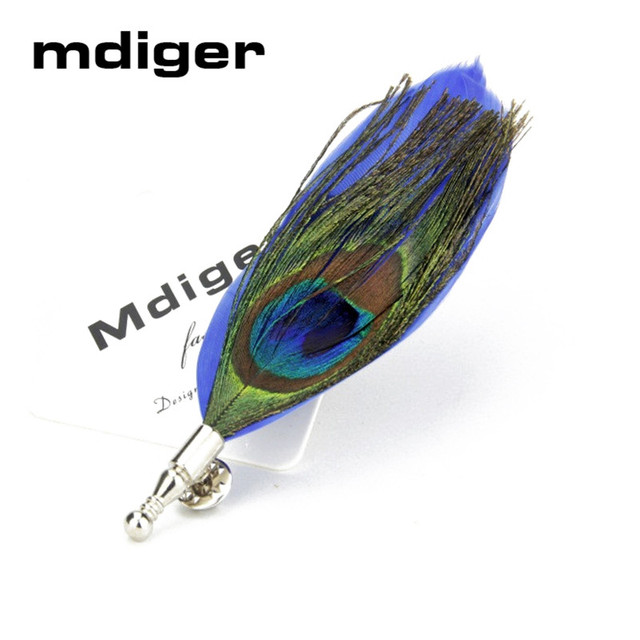 59ea6699722 Mdiger Men's Suits Brooch Black Feather Label Pins Bouquet Boutonniere  Corsage Lapel Pins For Male Long Brooches Pin Brooch