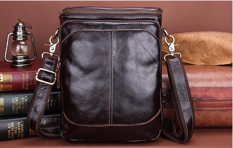 New arrival genuine leahter mens small messenger bag cowhide male one shoulder cross body bag casual business bag first layer