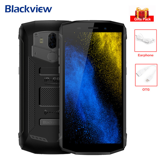 Blackview BV5800 PRO Android 8.1 Wireless Charge NFC 4G Waterproof Phone IP68 5580mAh 5.5'' MT6739 Quad Core 2GB+16GB Smartphone