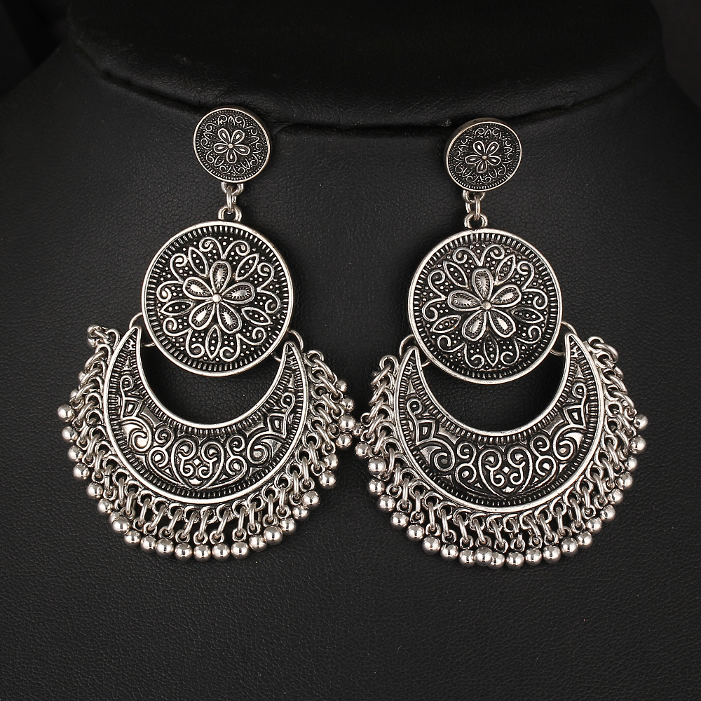Metal beads drop earrings free shipping worldwide