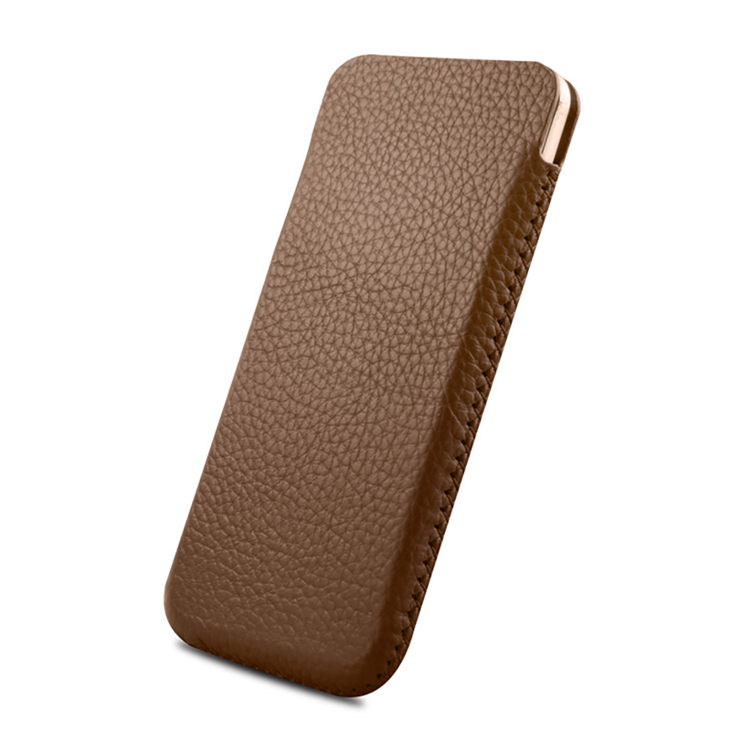 Universal Genuine Leather Mobile Phone Pouch Bag Case For Apple iPhone X Cover For Samsung Galaxy S9 S8 Plus Note 8 Holster Case