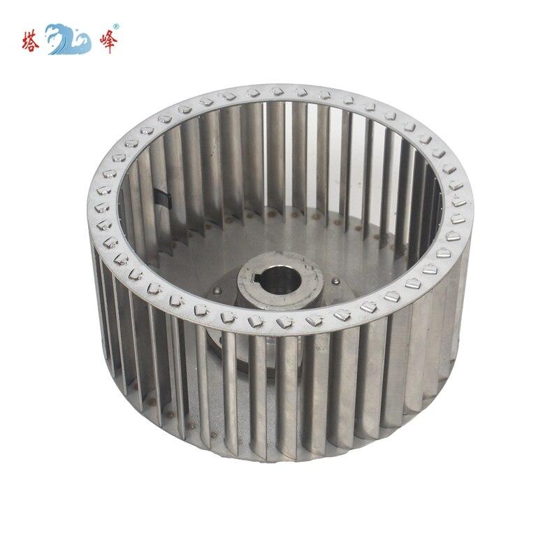246mm diameter 110mm height 28mm shaft all 304 stainless steel impeller wheel balde anti-corrosion steam proof