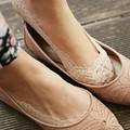 1 пара/лот женская Мода Хлопок, Кружева лодыжки исцелить короткие носок нч женские невидимым skidproof носки 2 Цвета BZ671207
