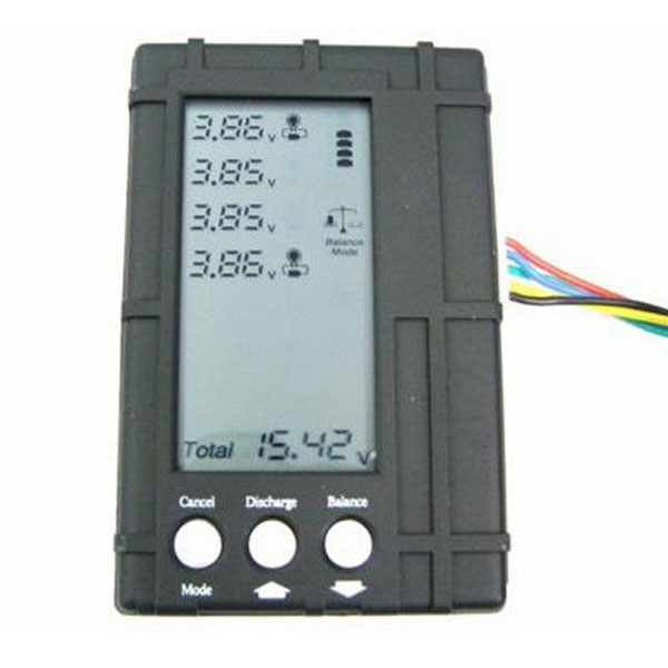 3in1 Li-Po Lipo Battery 2-6S LCD Balancer Voltage Tester Discharger