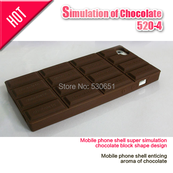 Mobile phone shell super simulation chocolate block shape design 5 5s 5c - Car Electronics Center store