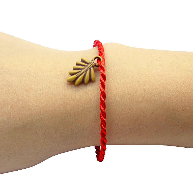 Fashion Bracelets Red rope hand made 19cm women men Bracelet Animal plant Resin Copy wood