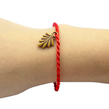 Fashion Bracelets Red rope hand made 19cm women men Bracelet Animal plant Resin Copy wood(China)