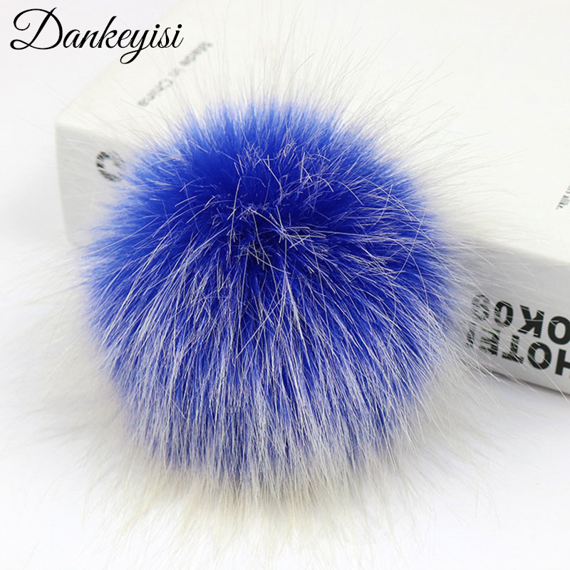 DIY Faux Fox Fur Pom Poms Pompon For Knitted Hat Bags Shoes Scarf Accessories Pompom False Hairball Hat Ball Pom Pom