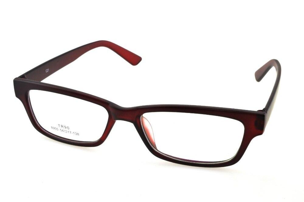 5d56ebc01f2fb6 Designer Foncé Rouge Lunettes Cadre Plein-Jante Optique Custom Made  Prescription Myopie Verres Progressifs Photochromiques-1 À-10
