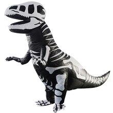 2.3M Надувной костюм динозавров Fantasia Adulto Halloween Cosplay Костюмы динозавров Взрослые Disfraces Adultos T-REX Fan Operated