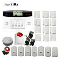 SmartYIBA Wireless Security Protection Alarm System 433Mhz Smoke Sensor Door Open Alarm GSM Alarm Kits Infared