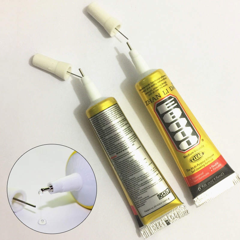 15ML Liquid Industrial E8000 Super Glue Strong Epoxy Resin MultiPurpose Adhesive For Leather Craft Rhinestone Phone Screen