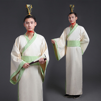 5 Color Chinese National Hanfu Costume Black Ancient China Men Clothing Traditional National Tang Suit Stage