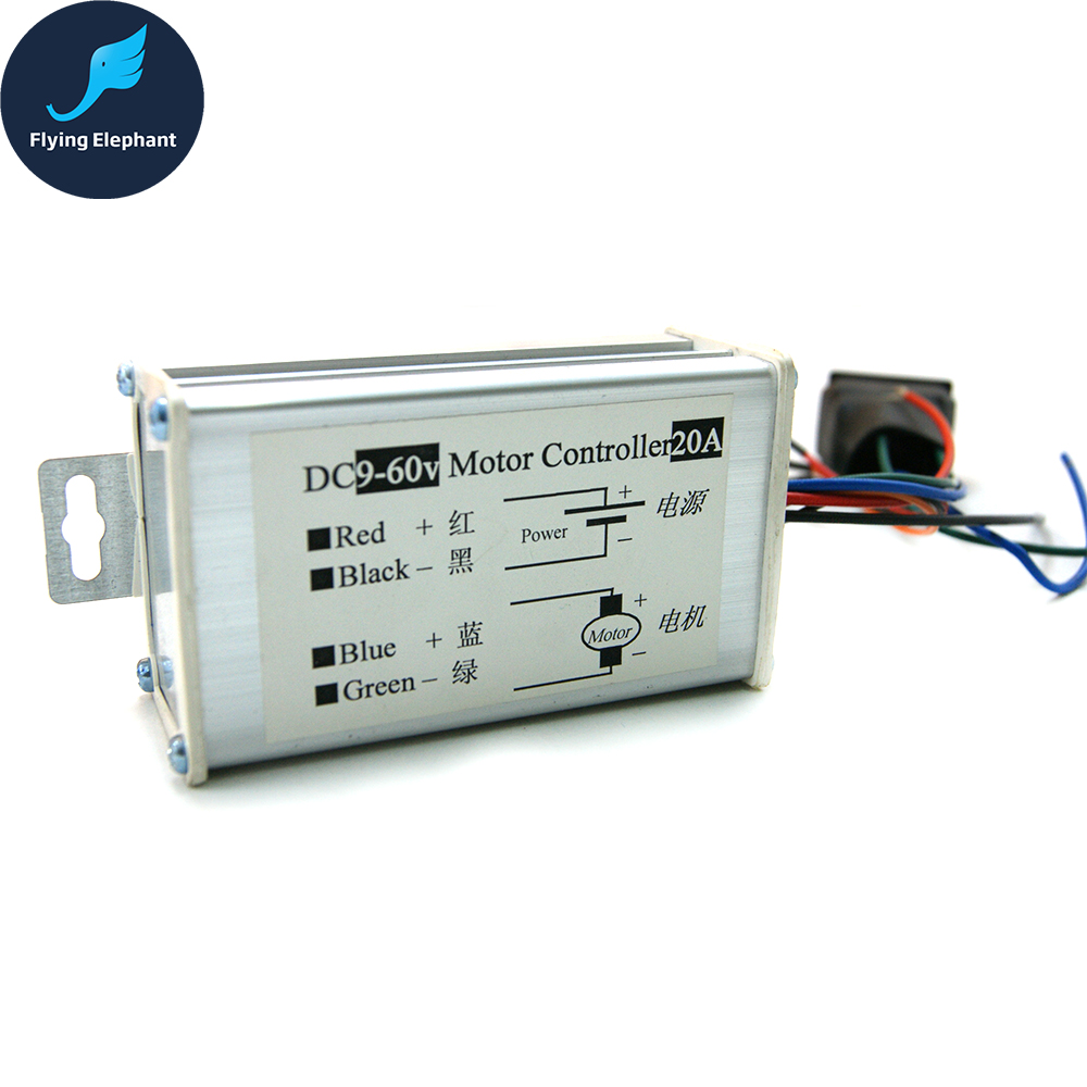 Universal DC9-60V Motor Controller 20A PWM HHO DC Speed Control Switch 2016 New Arrival 20a universal dc10 60v pwm hho rc motor speed regulator controller switch l057 new hot