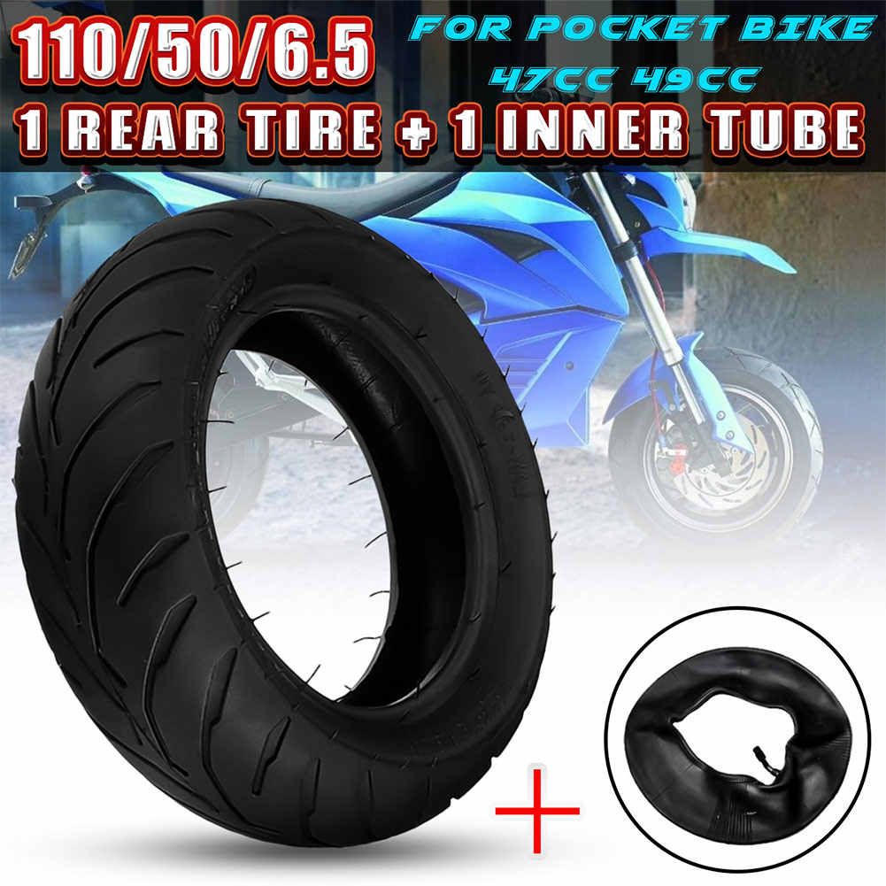 Hot Front Rear Tire+Inner Tube 90/65/6.5 110/50/6.5 for 47cc 49cc Mini Pocket Bike BX