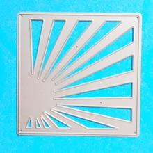 YLCD765 Ray Frame Metal Cutting Dies For Scrapbooking Stencils DIY Album Paper Cards Decoration Embossing Folder Die Cuts Tools аксессуар защитное стекло zibelino для zte v9 vita tg full screen black ztg fs zte v9v blk