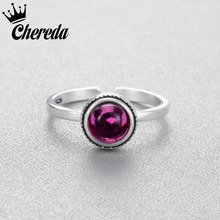 Chereda Hot Selling Big Purple Beautiful Rhinestone Adjustable  Fashion Luxury Ring For Women