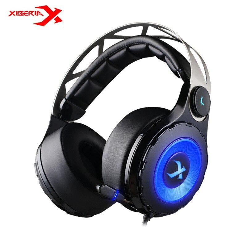 Xiberia T18 Pro USB 7.1 Surround Sound Gaming Headset Com Fio Jogo de Computador Fone De Ouvido Graves Profundos Fone de Ouvido Com Microfone LEVOU para PC Gamer
