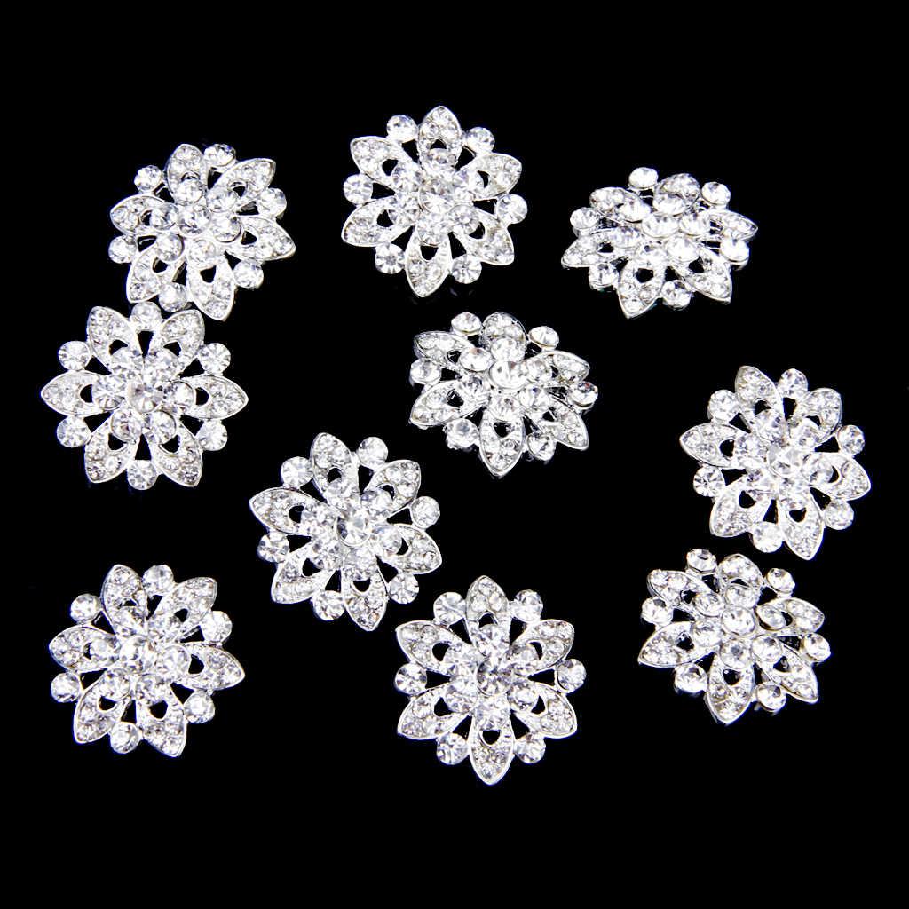 Nowy gorący Phenovo 10 sztuk Rhinestone kwiat guziki DIY Craft zdobienie 22mm suknia ślubna dekoracja akcesoria do szycia