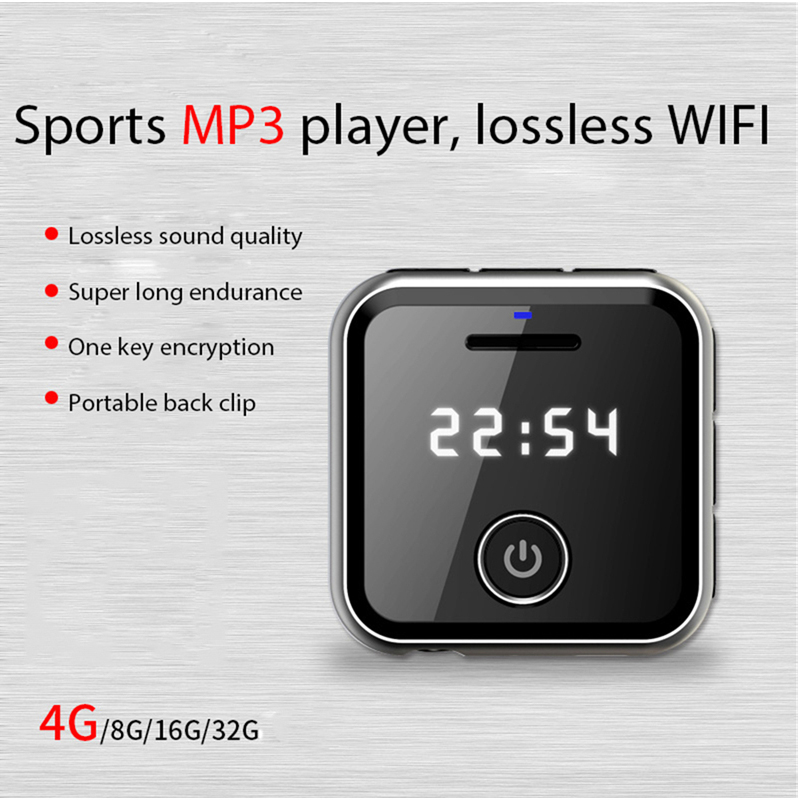 HIFI Lossless MP3 Player Free Earphone FM Recorder U Disk Function 4GB Music Player Support TF expansion to 64G Audio Player