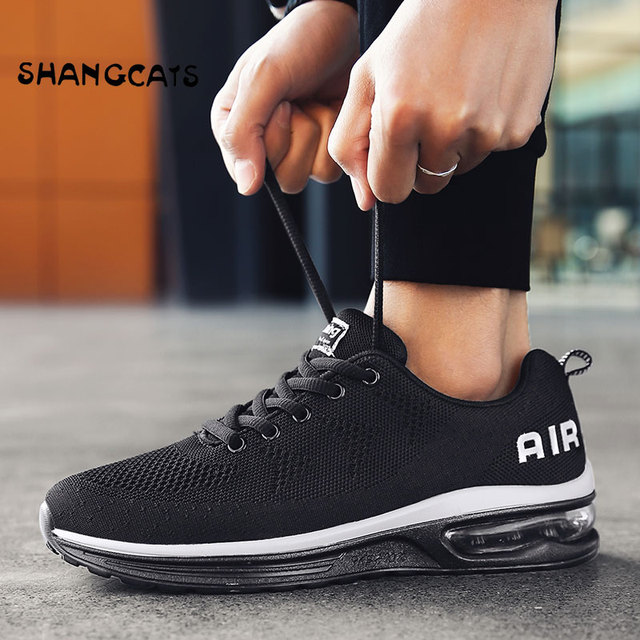 Trend 2018 Sneakers For Men Shoes Without Lace tenis masculino Black Teen  Shoes For Autumn Exclusive Brand Net Shoes Red Bottom 0f2d06ee7c96